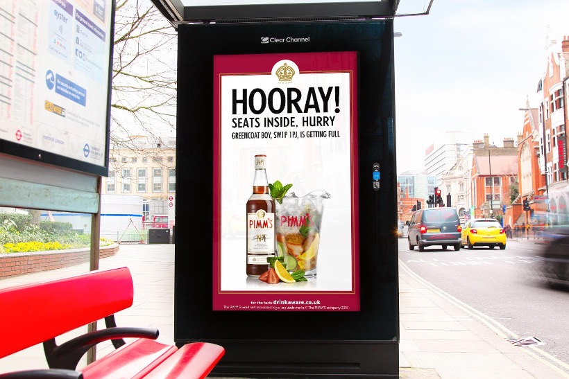Pimm S Digital Posters Tell Consumers Where There S Pub Space To Grab A Glass