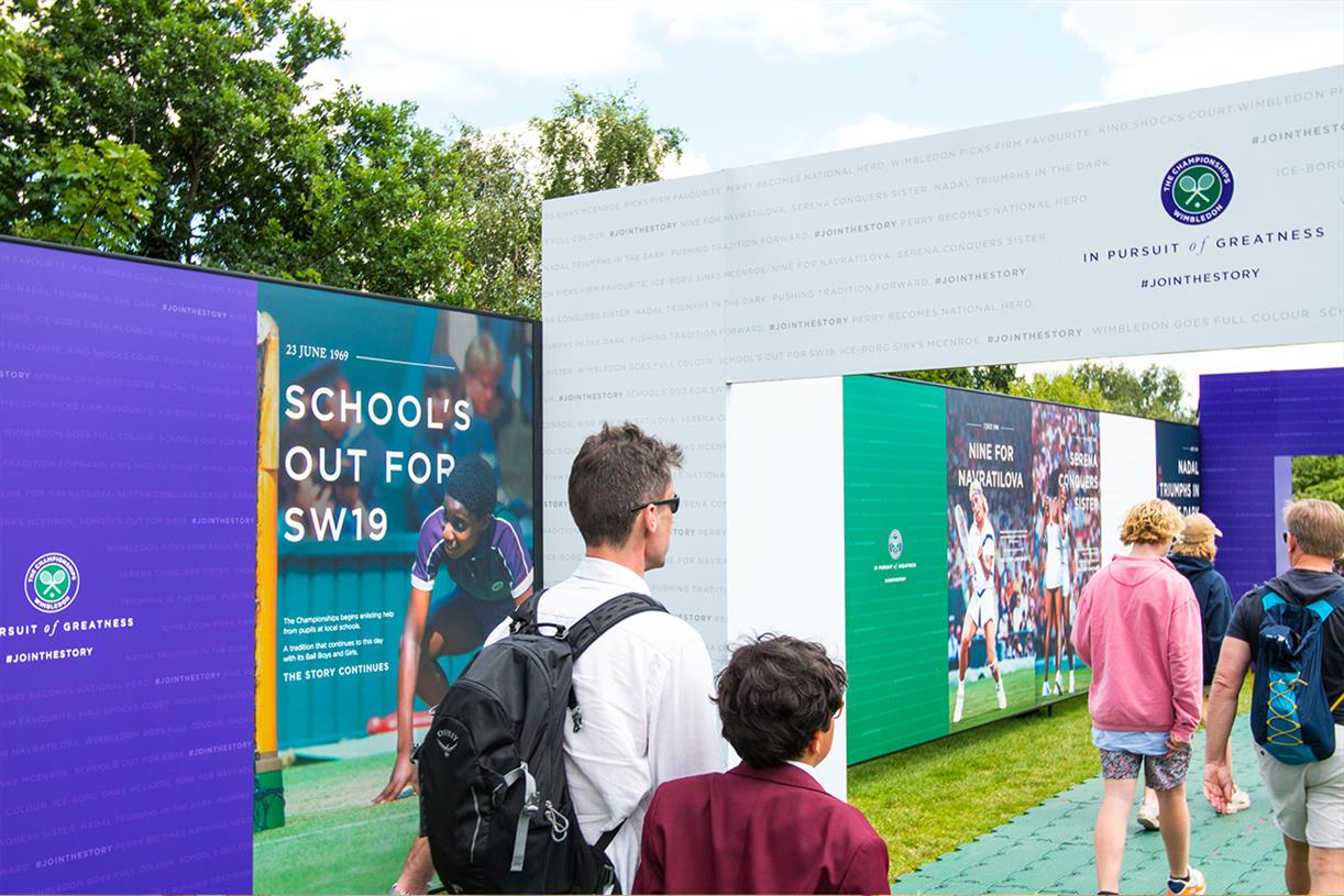 Wimbledon wants its experience to start in the queue