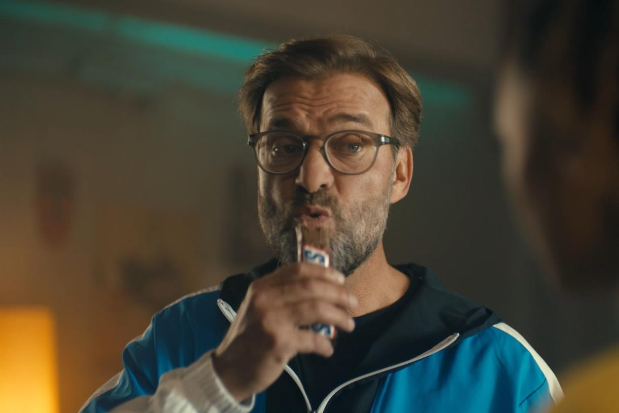 Snickers rubs salt in the wounds of Liverpool fans with Klopp ad