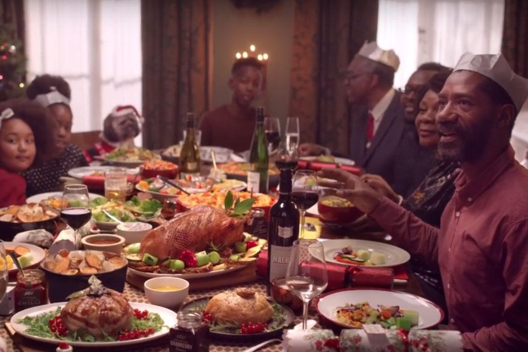 Christmas Dinner Party.Tesco Highlights Vegan Christmas Options With Dinner Party