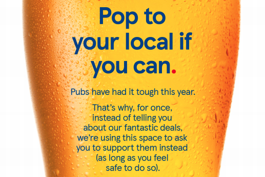 'Give Tesco a miss', supermarket urges with print campaign promoting pubs