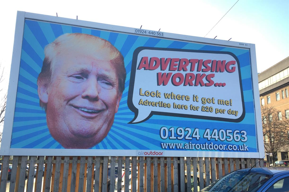 Trump Billboard Urges Businesses To Invest In Outdoor