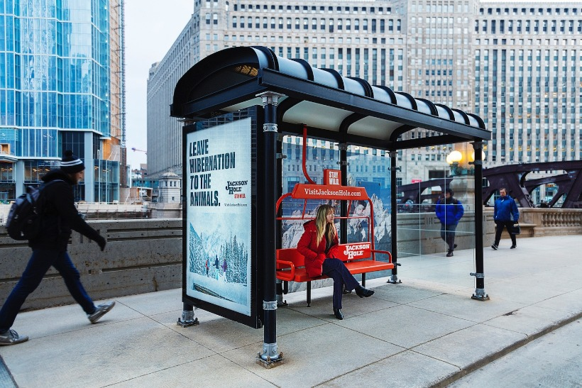 Jackson Hole morphs Chicago bus shelters into ski lifts | Campaign US