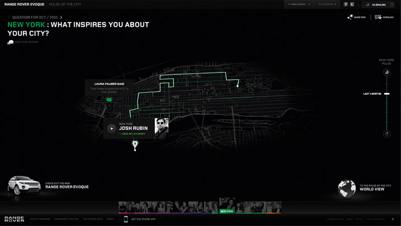 Range Rover 'pulse of the city' by Brooklyn Brothers