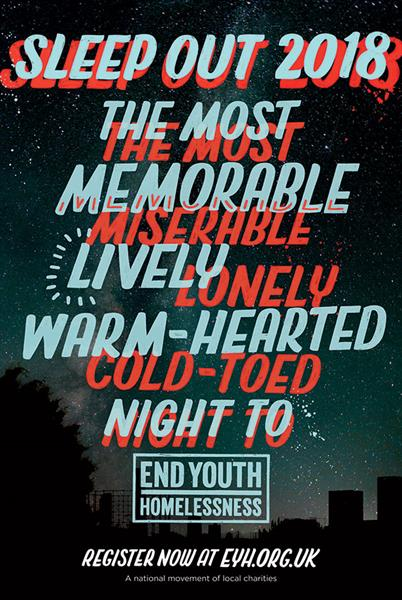 """End Youth Homelessness """"Sleep out"""" by WCRS"""