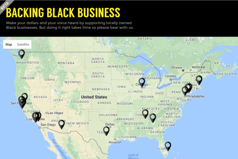 Black Lives Matter Teams With JWT NY To Create Map Of Blackowned - Create us map