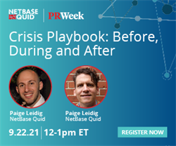 Crisis Playbook: Before, During and After | 22.9.21 12-1pm