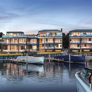 Andre Kikoski Architect Design transforms waterfront with a collection of distinct contemporary townhouses