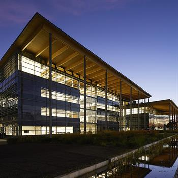 Europe's largest timber roof houses Jaguar Land Rover in Warwickshire