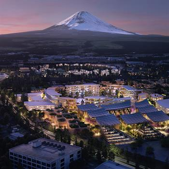Toyota's prototype city of the future being built at the base of Mount Fuji