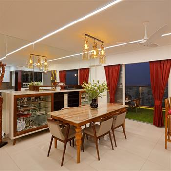 Indian highrise apartment made a home by Cluster One creative solutions