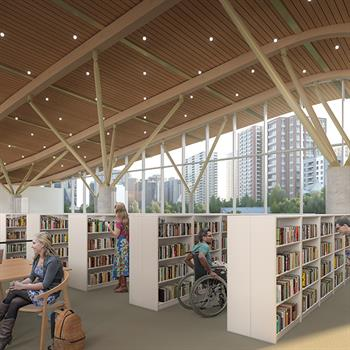 Diamond Schmitt and KWC Architects design new library for Canada's capital