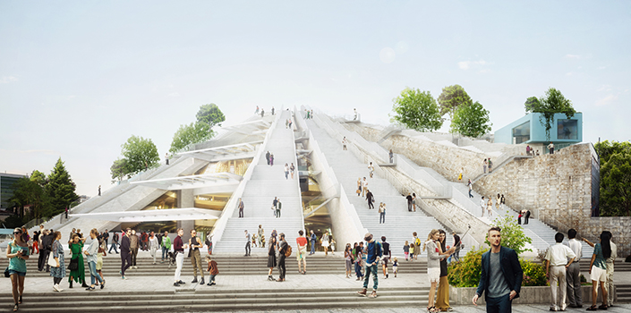 MVRDV revitalises Pyramid in Tirana, Albania
