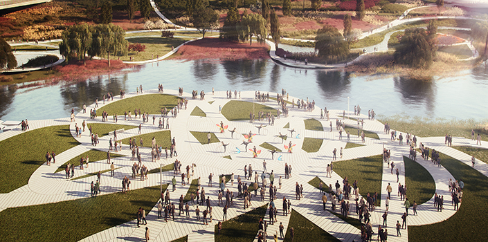 Seoul's Weaves waterfront wins competition