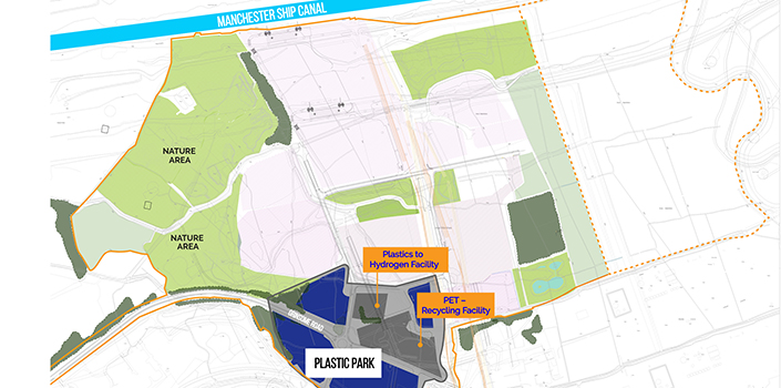 Peel L&P Environmental reveal Protos Plastic Park masterplan