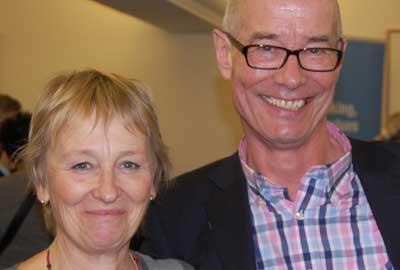 Caroline Schwaller with Mike Martin