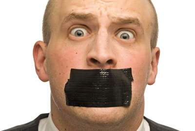 Silenced: if you're going to be gagged, it might as well be a super-gag