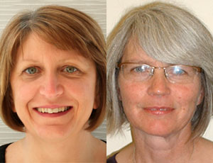 Angela Harrison (left) and Kate Tayler