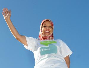 Rifat Saleem walks for the Seashell Trust