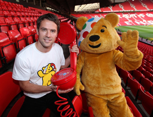 Michael Owen with Pudsey for BBC Children in Need