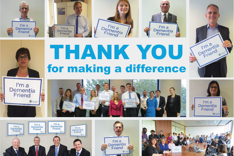 The company trained more than 1,200 staff as Dementia Friends