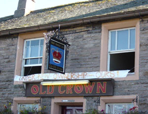 Britain's first cooperative pub, the Old Crown at Hesket Newmarket in Cumbria