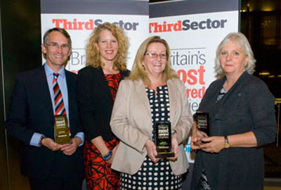 [L-R] Help for Heroes founders Bryn and Emma Parry, Chance UK chief executive Gracia McGrath and Prison Reform Trust director Juliet Lyon