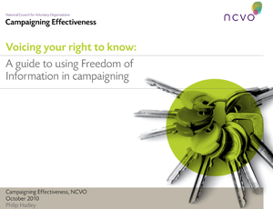 NCVO guide to the FOI Act