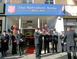 The Salvation Army charity shop