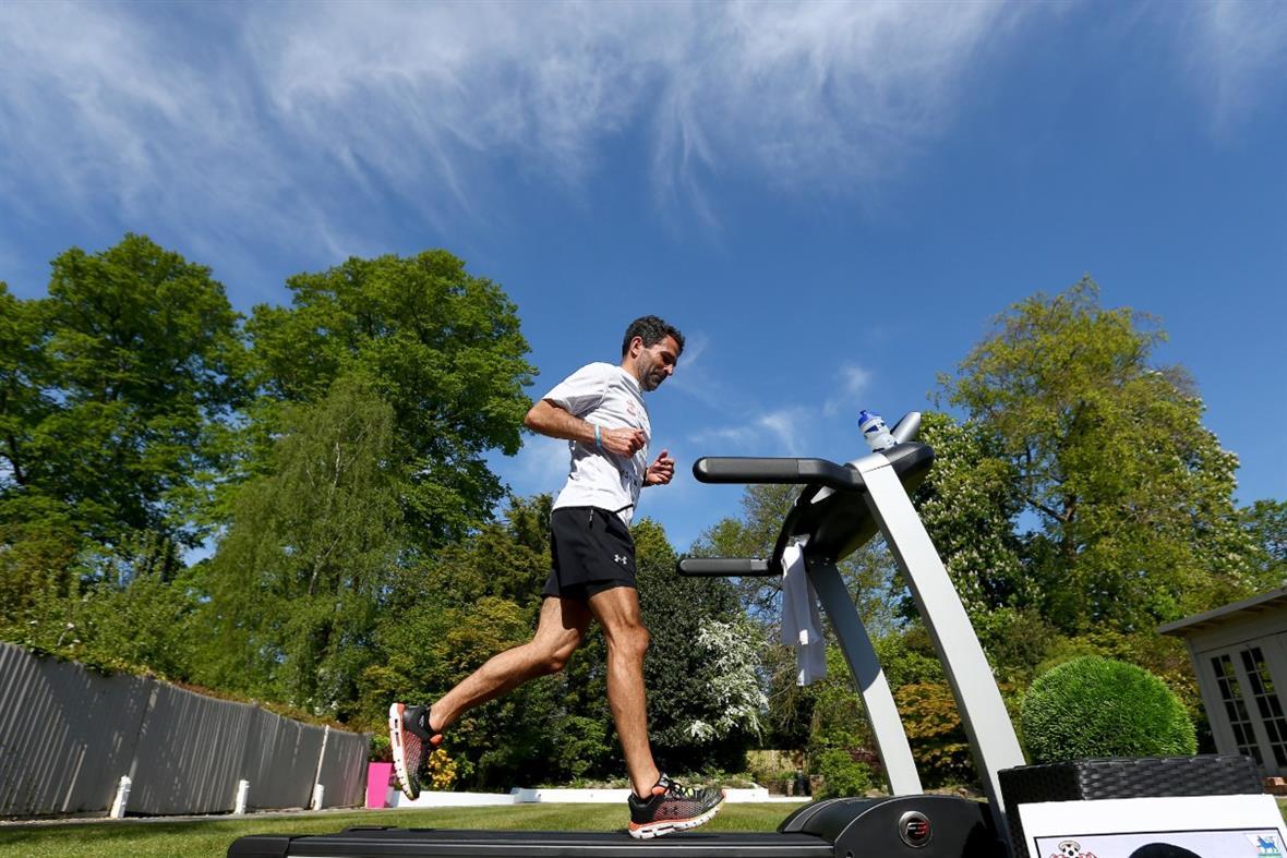 Francis Benali ran a marathon on a treadmill (Photograph: Matt Watson/Southampton FC via Getty Images)