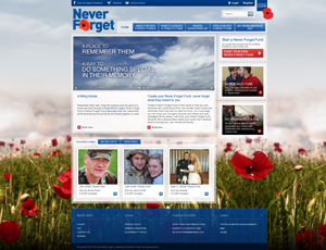 Never Forget Tribute Fund website