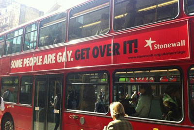 Stonewall's London bus advertisements