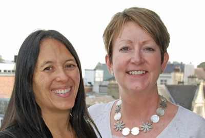 Justine Williams [l] and Alison Sargent