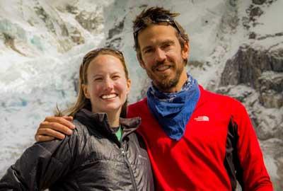 Liz and Kip at Everest base camp