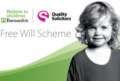 So far, £2.5m has been pledged through the free wills scheme operated by QualitySolicitors with Barnardo's
