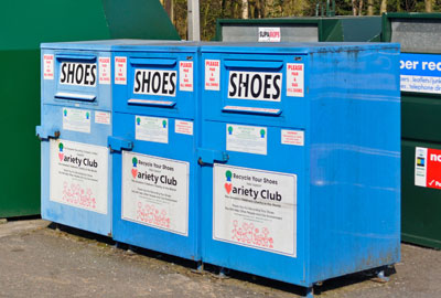 Variety Club shoe bins