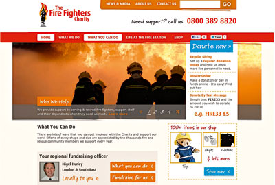 The Fire Fighters Charity's new website