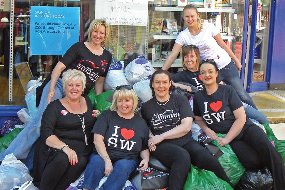 Members donated clothes to CRUK shops