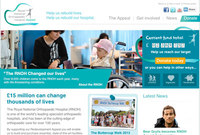 RNOH Charity's website
