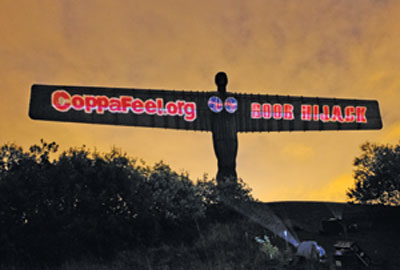 Boob Hijack campaign targeted the Angel of the North sculpture