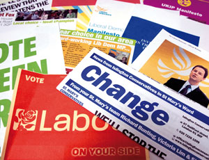 Electiton leaflets