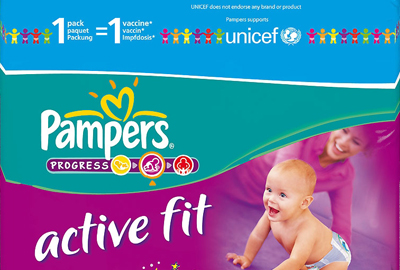 Pampers vaccine campaign