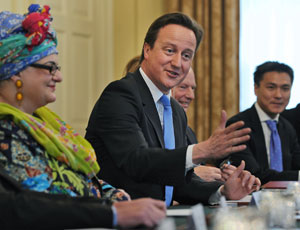 David Cameron with Kids company founder Camila Batmangelidjh