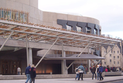 Holyrood: home of the Scottish government