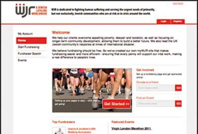 World Jewish Relief fundraising website