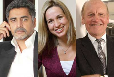 philanthropists James Caan, Sara Davenport and Alec Reed