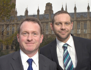 Conservative MP Chris White (left) and Peter Holbrook