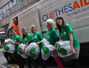 Clothes Aid: partnership with NSPCC