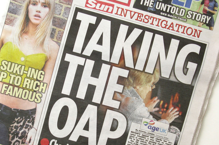 Today's Sun front page