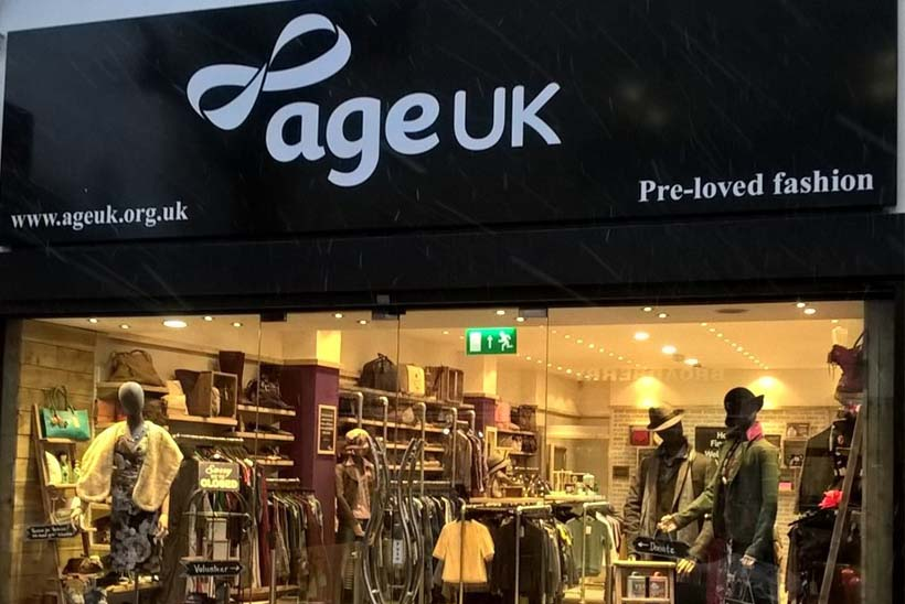 Age UK shop front, North Finchley, London